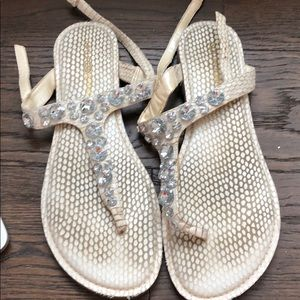 White crystal Sandals!